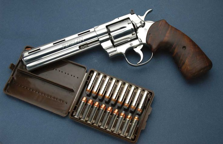 In 1955, Colt's Firearms introduced what many believe to be the most elegant .357 Magnum revolver ever created—the Python. This example is an Ultimate Python in stainless steel and has the best features found with any Python.