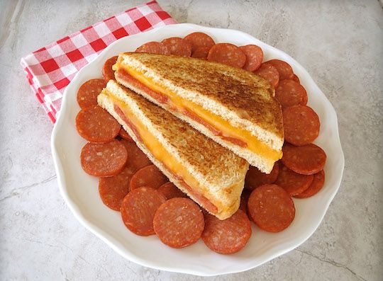 Organic Valley Pepperoni Grilled Cheese Sandwich Recipe
