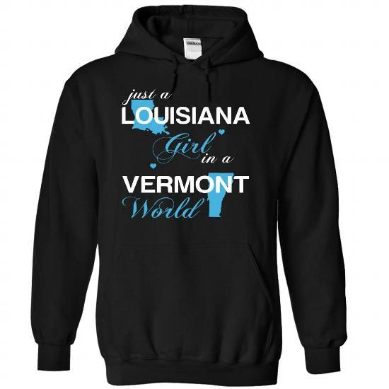 (LAJustXanh001) Just A Louisiana Girl In A Vermont Worl - #mason jar gift #gift sorprise. THE BEST => https://www.sunfrog.com/Valentines/-28LAJustXanh001-29-Just-A-Louisiana-Girl-In-A-Vermont-World-Black-Hoodie.html?68278