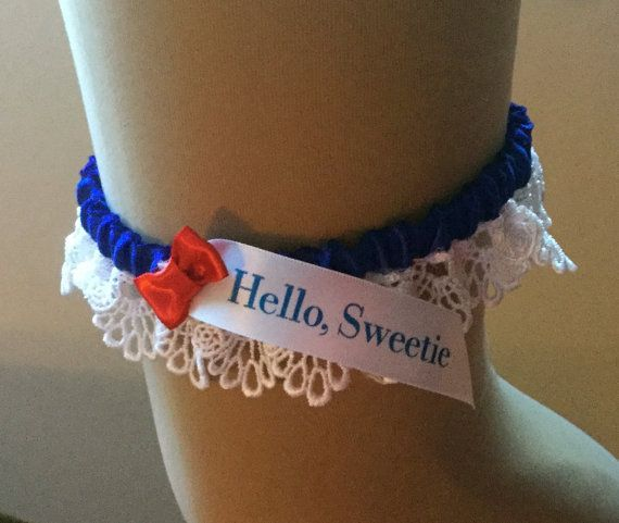 Wedding Garter Songs: Dr Who, Hello Sweetie, Wedding Garter // Tardis Blue