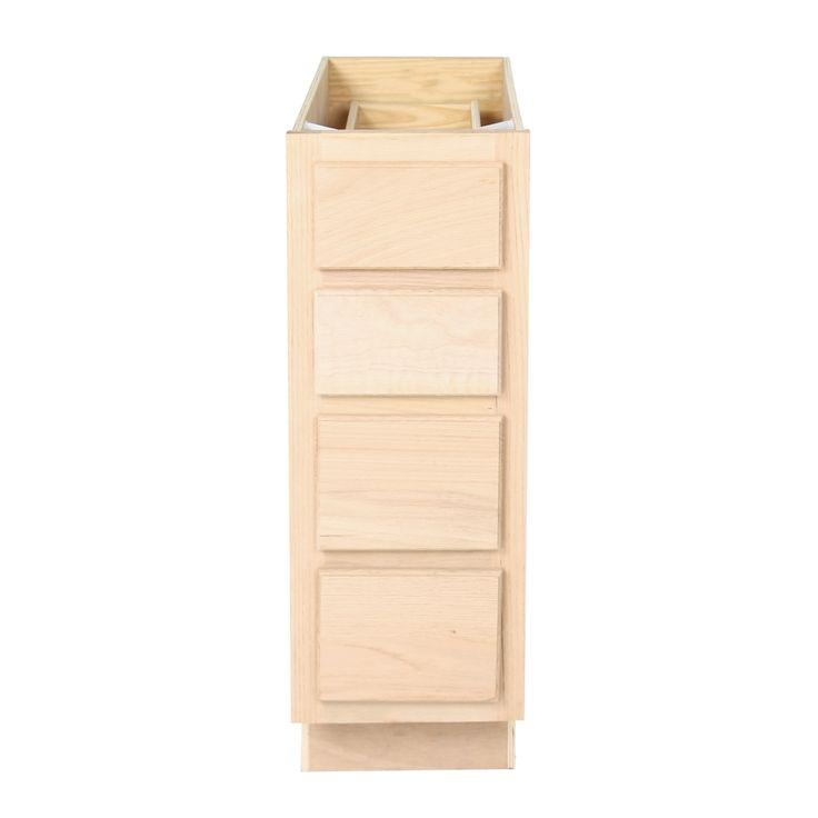 Best Unfinished Bathroom Vanity Drawer Base Cabinet 12 400 x 300