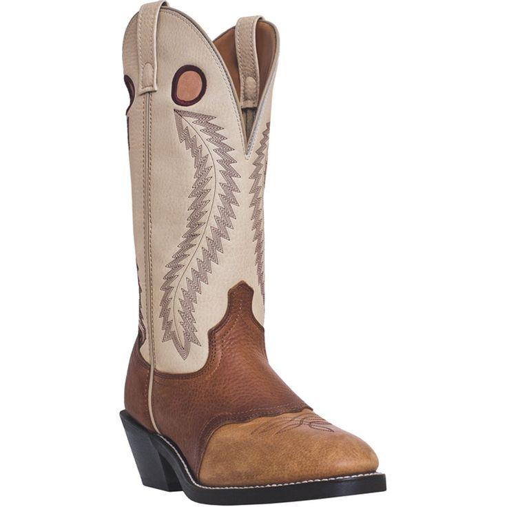 Laredo Mens Tan Leather Knoxville 13in U Toe Buckaroo Cowboy Boots