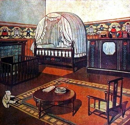 Cuisine Design Italie : Chambre a coucher denfant  1926 Bleuette  Pinterest