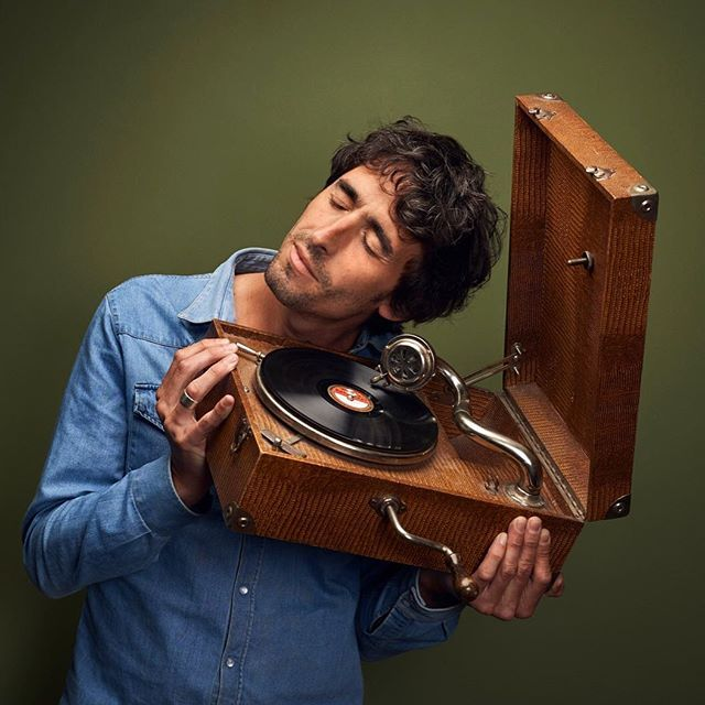 Amaury Chardeau Producer at France Culture radio station - Thanks Telerama - Photo by Manuel Braun www.manuelbraun.fr #amaurychardeau #manuelbraun #radio #producer #journalist #radiofrance #french #gramophone #music #eyesshut #musique #disque #grammophone #grammophon #brodcast #vynil #disc #green #vintage #suitcase #photography #photographer #nikon #profoto #portrait #portraitphotography