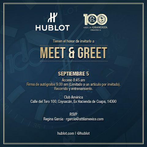 invite #Hublot #Clubamerica #Mexico