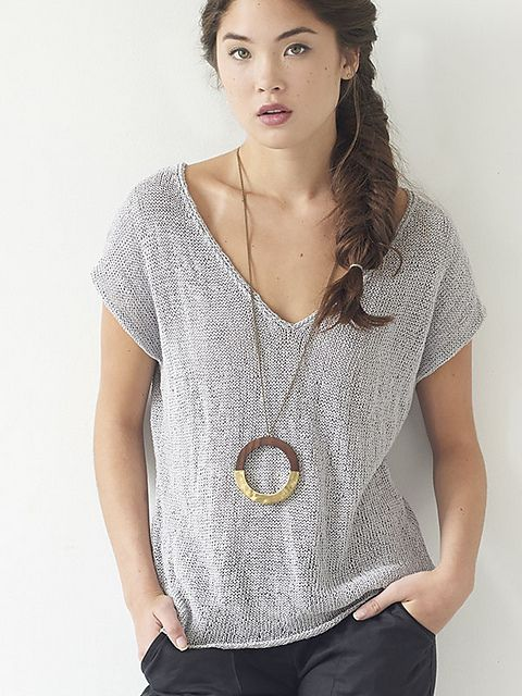 Sometimes you see a knitting pattern and you want to cast on immediately. Berroco Odele it the knit t-shirt we've been looking for. Love the cool grey, but a deep burgundy would be awesome too.