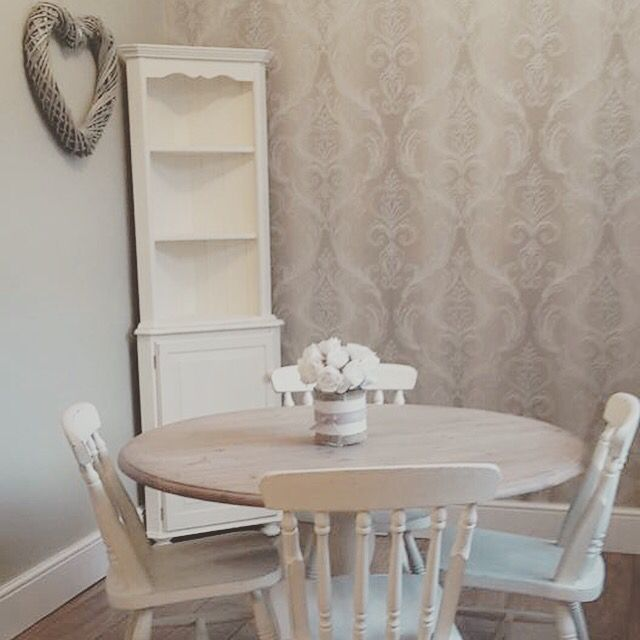 Customer's dining room transformed with Everlong Superior Finish Paint's French Cream