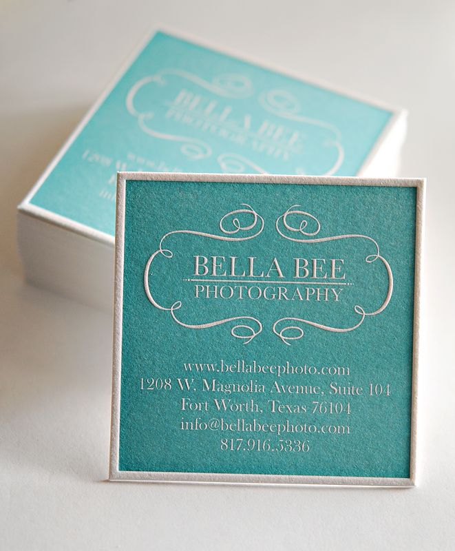40 best letterpress images on pinterest carte de visite embossed gorgeous letterpress square business cards tiffany blue love reheart Gallery