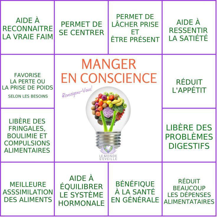 Les Vertus de Manger en Conscience   MANGER EN CONSCIENCE Le Monde s'Eveille Grâce à Nous Tous ♥