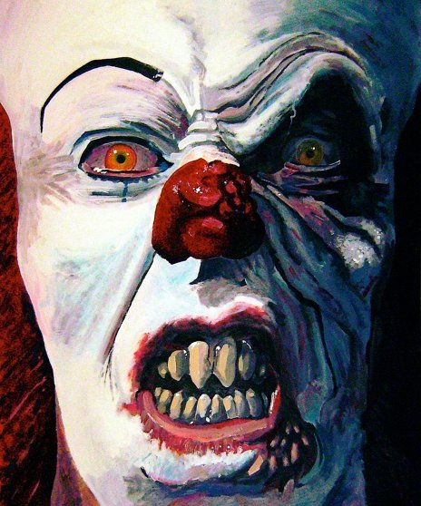 Pennywise from It.  Simply terrifying.