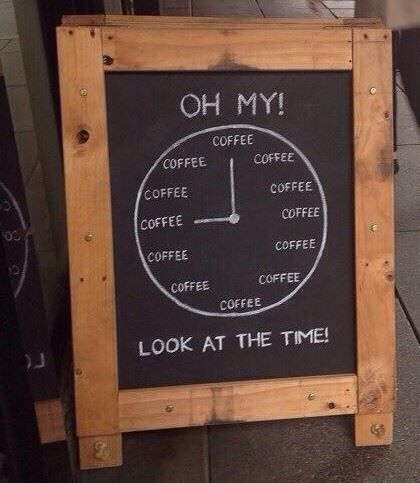 Coffee hourly attention !