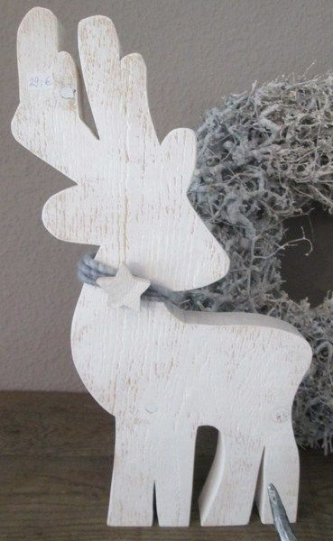 Weihnachtsdeko - Weihnachten! Großes Rentier, Elch aus Holz - ein Designerstück von raumtraum-1 bei DaWanda