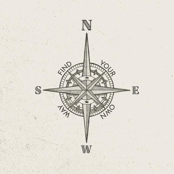 Vector Vintage Compass (Style B)