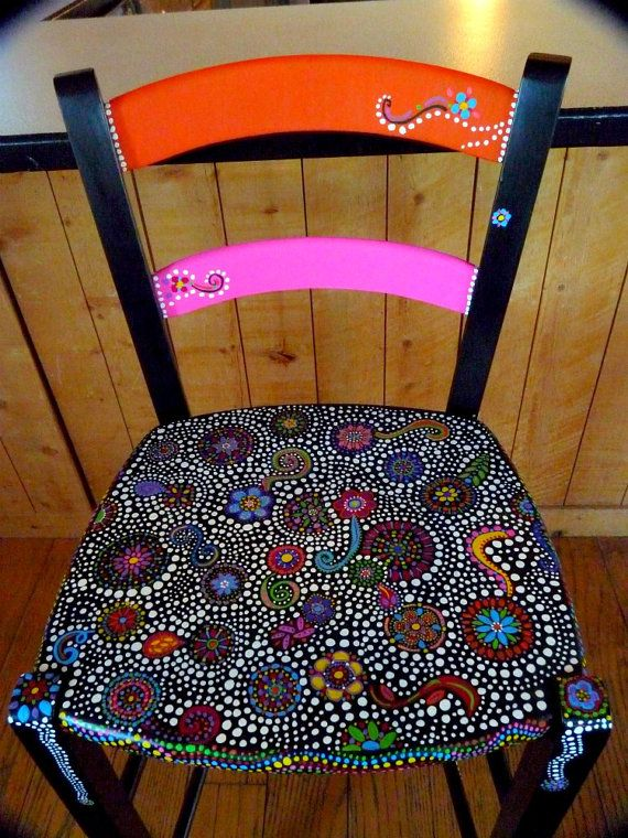 Best 25 Hand Painted Chairs Ideas On Pinterest Painted