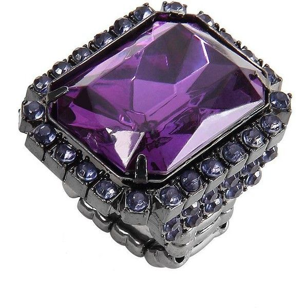 Yoins Purple Diamond Stretch Ring-Purple ($4.01) ❤ liked on Polyvore featuring jewelry, rings, accessories, purple, stretch rings, purple ring, purple jewellery, diamond jewellery and purple diamond ring