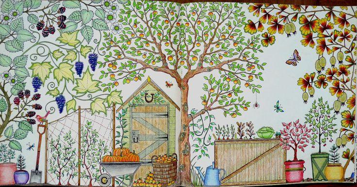 Uit het boek mijn geheime tuin van johanna basford from for De geheime tuin boek