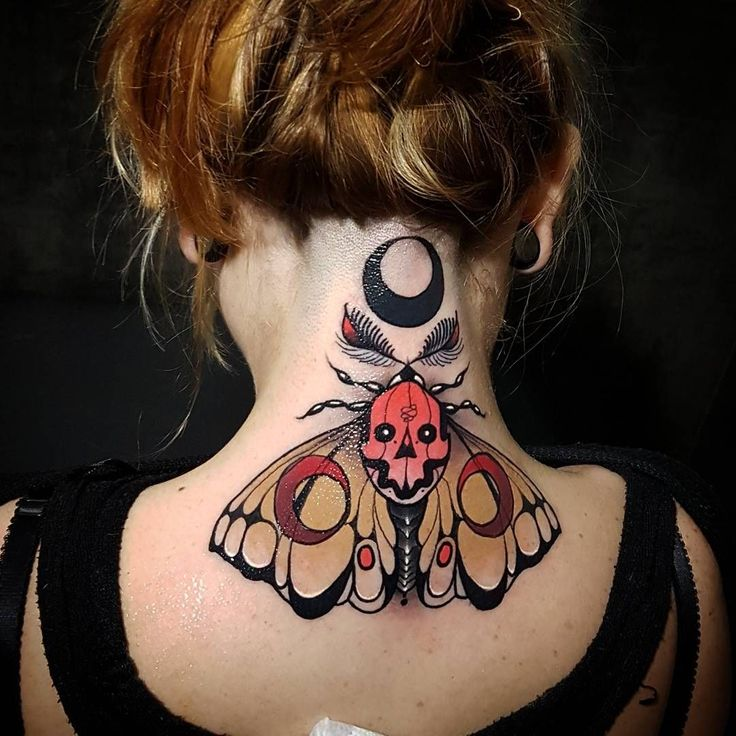 Seriously gorgeous piece done by @ericmoren0 we are in loveeee #deathmoth #tattooart #tattoogoals #inked #tattoolife