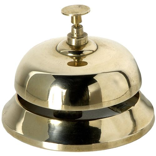 Ring for service with this traditional design, handmade Desktop Counter Service Bell made from brass. Ideal for reception areas, counters and kitchen or have just have on display. View online: http://www.english-heritageshop.org.uk/collectors/desk-top-counter-service-bell