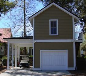 Single car garage with apartment above plans and carport for Single story garage apartment