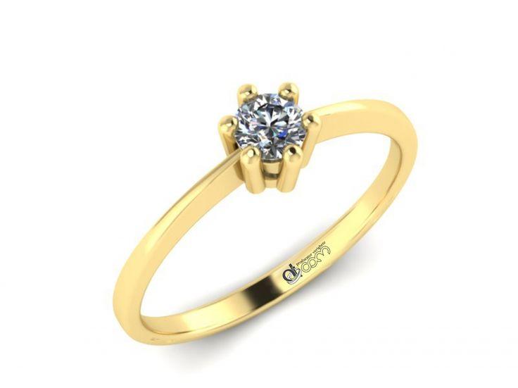 Inel de logodna ATCOM Lux cu diamant MAGELLAN aur galben - pret redus, economisiti 125 ron !