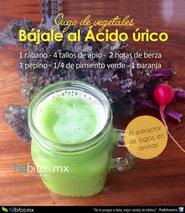 JUGO DE VEGETALES para bajarle al ácido úrico….