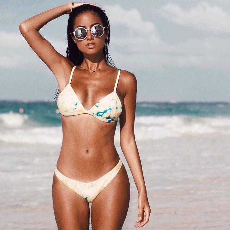 "70.6k Likes, 340 Comments - TRIANGL (@triangl) on Instagram: ""The BIBI Bikini Tie Dye on our Signature Neoprene @racquelnatasha wears 'Sol' #trianglgirls"""