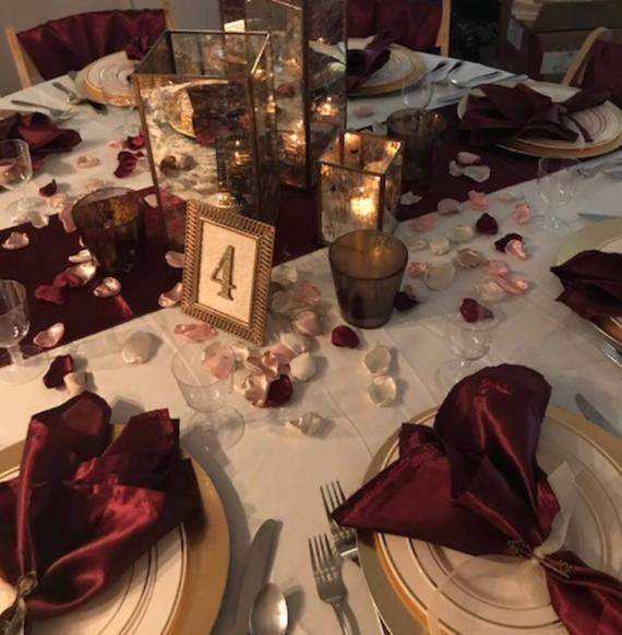 Marsala Maroon, blush pink, ivory, champagne mix of flower petals, Wine rose petals, Burgundy table decor, flower girl petals, wedding decor – T&V