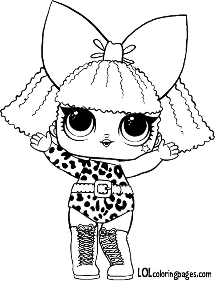 Diva LOl Surprise Doll series 1 coloring sheet Toys