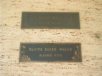 """Niles Eugene Welch - Actor. He appeared in films such as """"The Show-off"""" (1934) and """"Wife vs. Secretary"""" (1936) with Clark Gable."""