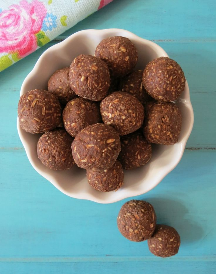 A healthy, creamy, chocolaty, raw dough ball made with avocados and chocolate.