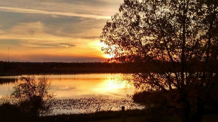 Sunset near Bagley, MN on 10/22/15 by Brenda Bakke Skarison.