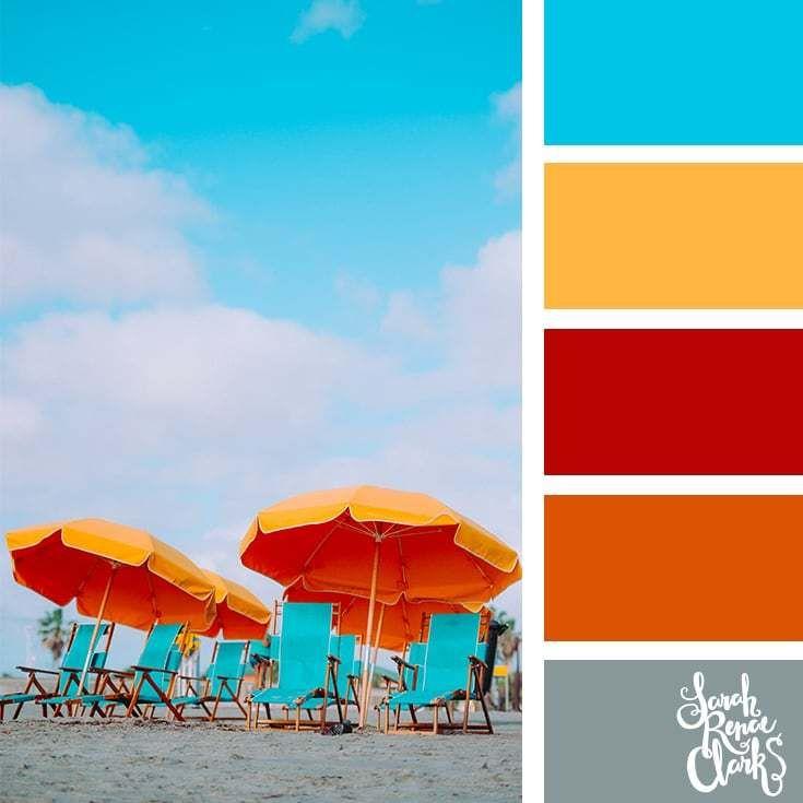 25 Summer Color Palettes Summer Color Palettes Beach Color