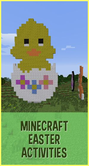 Ideas for Easter activities that families can have fun with in Minecraft ~ MineMum.com