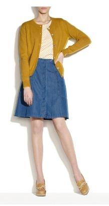 apc button-up skirt