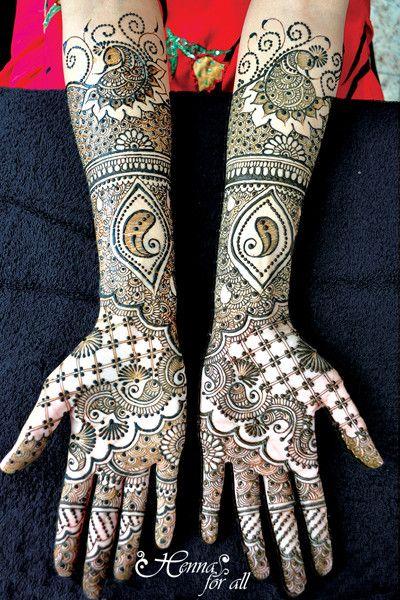 gorgeous peacock henna!
