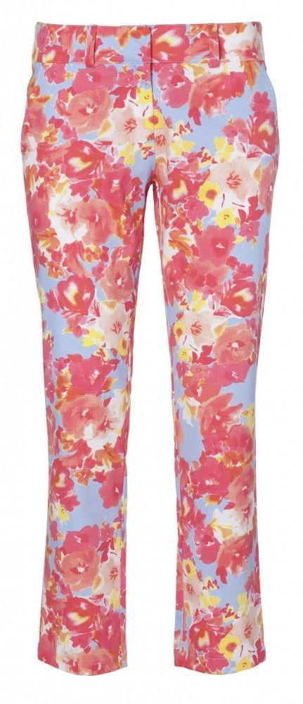 Floral Capri Pant Ladies Golf trouser by Lija