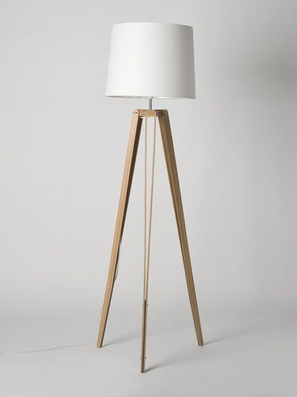 Oak rs 2 tripod floor lamp made by douglas and bec