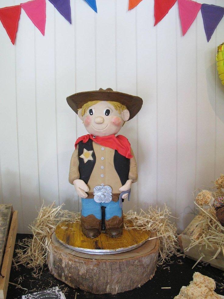 Cowboy cake. 3D cowboy. Western party cake. Cowboy party ideas.