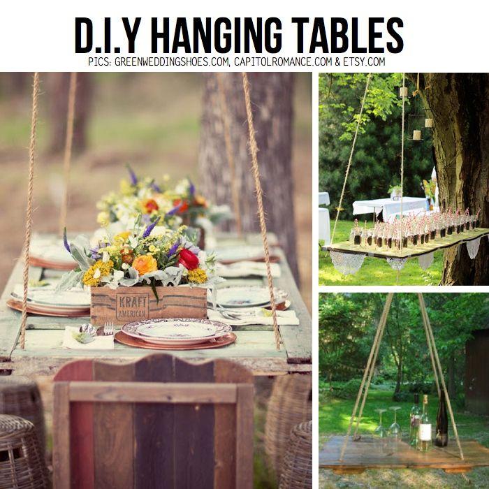 DIY Hanging tablesHanging Table
