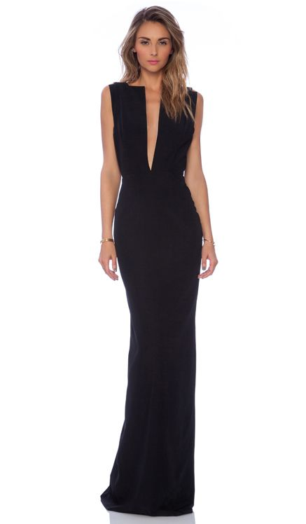 SOLACE London Linder maxi Dress em Preto | REVOLVE