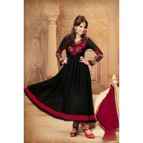 Black Pure Georgette Salwar kameez