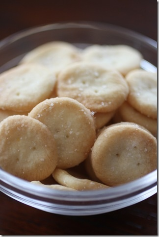 Homemade Oyster Crackers from Thomas Keller's Ad Hoc at Home - I cut ...