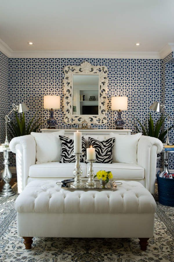 Simple decorating ideas for living rooms on a budget by using a wallpaper