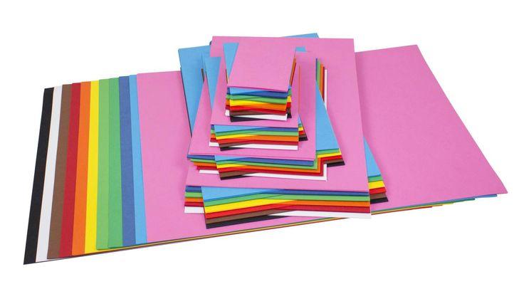 Dekorationskartong sats med totalt 780 ark i 12 starka färger. A2: 5 ark x 12 färger. A3: 10 ark x 1...