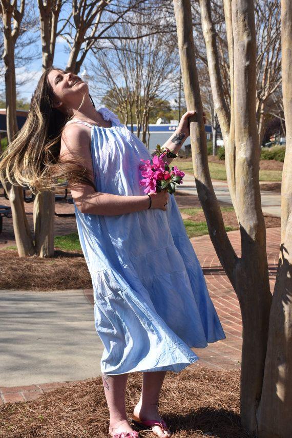 Festival DressSun DressBohemian DressGypsy  DressHippie by Linarain #boho #hippie #gypsy #maternity #festival