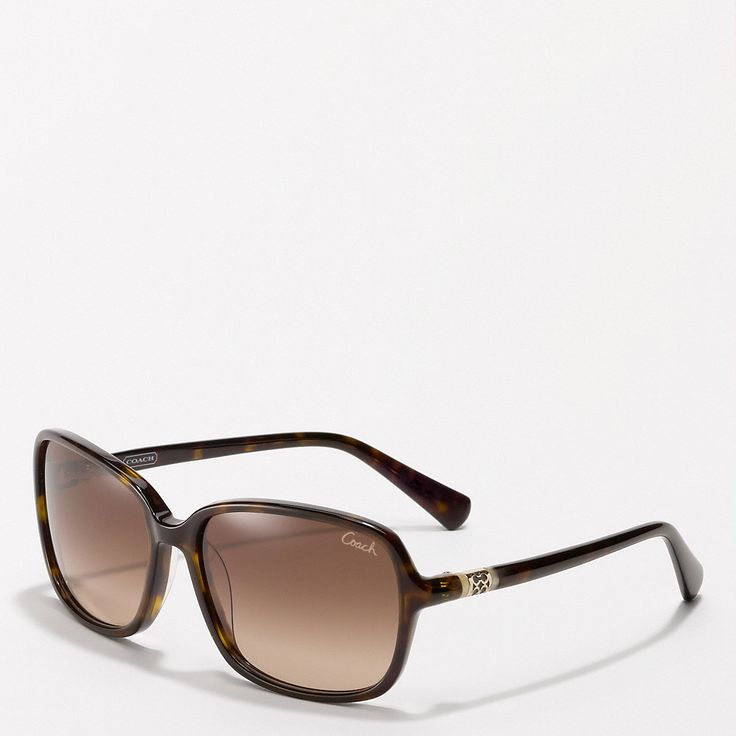 Coach Sunglasses | The Coach new autumn sunglasses have a slim frame and temple pieces ...