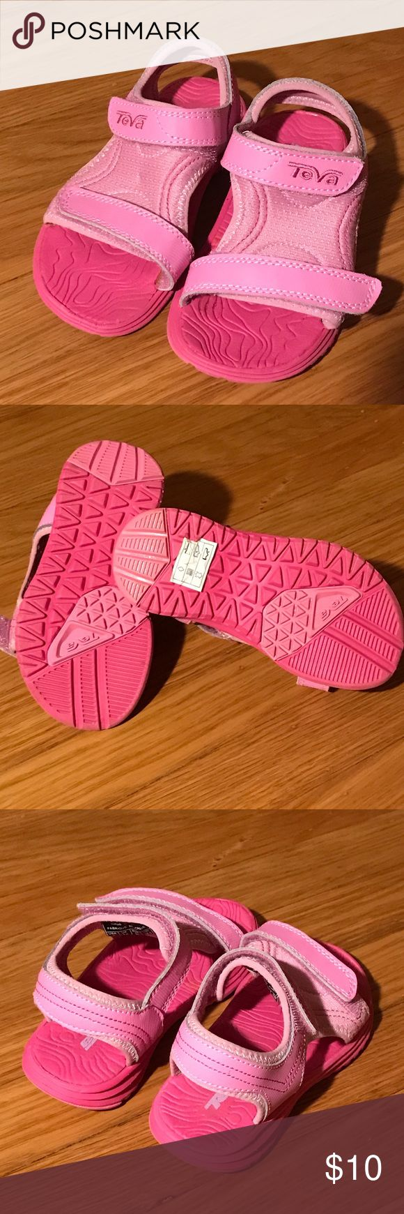 Girls Teva water shoes; Size 9 These are almost new Teva sandals, size 9.  My daughter wore them once in the yard.  They are in excellent condition. Teva Shoes Sandals & Flip Flops