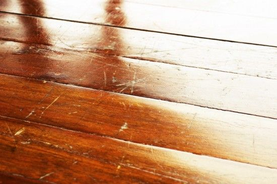how to fix scratches on the wooden floor