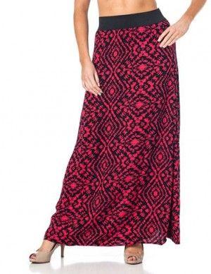 Maxi falda tribal, .encuentra más modelos de esta prenda aquí...http://www.1001consejos.com/top-10-maxi-faldas/