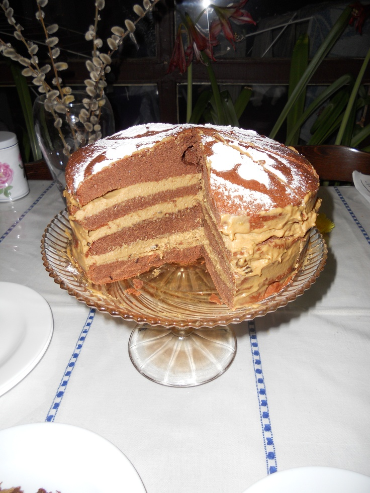 coffee and chocolat cake (inside)